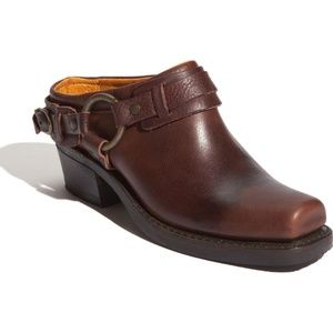 Frye 8.5M Shoes Brown Belted Harness Mule Leather